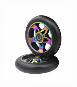 aibiku 110mm Pro Stunt Scooter Wheel with ABEC-9 Bearings fi