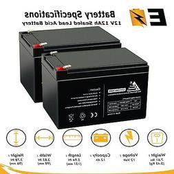 2 Pack - 12V 12AH SLA Battery for Currie Ezip 750 Electric S
