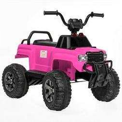12V Kids ATV Children 4-Wheel Ride-On Car w 2 Speeds MP3 Sto