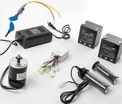 150W Electric Motor kit w Control Box+Twist Throttle+Key Loc