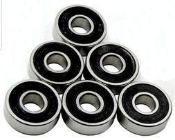 16 BLACK Abec 11 Wheel bearings Skateboard scooter inline Ro