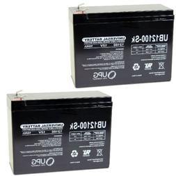 2PK UPG 12V 10AH SLA Battery for Electric Scooter Schwinn S1