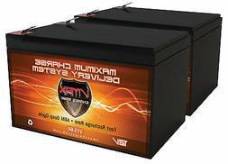 QTY 2 VMAX64 AGM 12V 15Ah SLA battery for BladeZ XTR Lite El