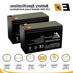 2 Pack | 12V 9Ah Sealed Lead Acid Battery for Electric Scoot