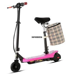 2-Wheel Children Folding Electric Kick With Scooter Seat bas