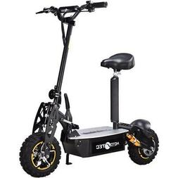 MotoTec 2000w 48v Electric Scooter Black Chain Drive Horn Ma