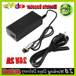 24V 2A Adapter for E-scooter Female 3-Pin XLR Fast Charger H
