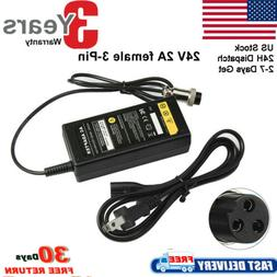 24Volt For Razor Electric Skip Scooter Battery Charger e125/