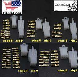 25 Sets Automotive 2.8mm Electric Wire Connector 2 3 4 6 9 P