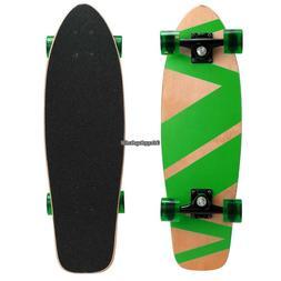 "27"" Skate Scooter Cruiser Style Kids Board Skateboard Wood C"
