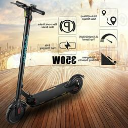 350W Electric Foldable Scooter, 18.6 Miles Range, Cruise Con