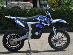 MOTO TEC 36v 500W ELECTRIC BLUE DIRT BIKE MOTORCYCLE SCOOTER