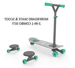 MORFBOARD 39015 Skateboard & Scooter Combo Set, for Boys, Gi
