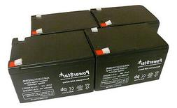 PowerStar 4 Pack - 12V 12Ah Ebike Electric Scooter Battery E