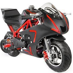XtremepowerUS 40CC 4-Stroke Gas Power Mini Pocket Motorcycle