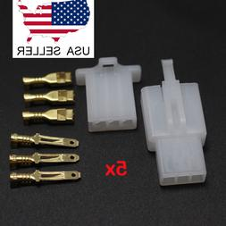 5 pairs 3 Pin Way 2.8mm Automotive Electrical Wire Connector