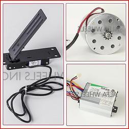 500 W 24 V DC electric 1020 Kart motor kit w speed control &