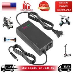 54.6V 2A Adapter Charger For 48V E-bike Electric Bike Scoote