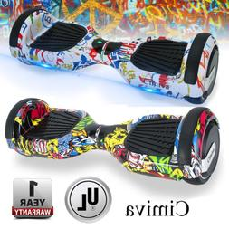"""CIMIVA 6.5"""" 2 Wheel Electric Motorized Scooter Hoverboard UL"""