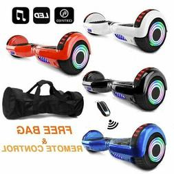 "6.5"" 2-Wheels Electric Motorized Scooter Hoover Board LED bl"