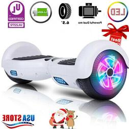 """6.5"""" Hoover board Chrome Hoverboard Electric Balancing Bluet"""