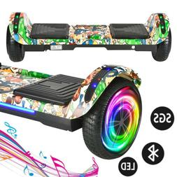 """6.5"""" Hoverboard Bluetooth LED Light Electric Self Balancing"""
