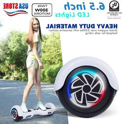 "6.5"" LED 2-Wheels Hoverheart Hover Boards Electric Self Bala"