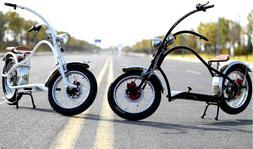 60V Electric Fat Tire Scooter Chopper / Harley Design Beach