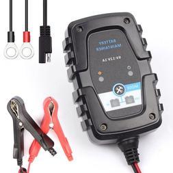FOXSUR 6V 12V 1A Automatic Smart <font><b>Battery</b></font>