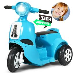 6V Electric Motorcycle Kids Ride Cars Toy 3 Wheels Drive blu