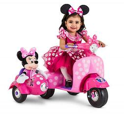 6V Ride On Toys For Girls Minnie Mouse Electric Scooters Car