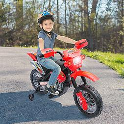 Aosom 6V Electric Kids Ride-On Motorcycle Powered Dirt Bike