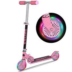 WeSkate B3 Scooter for kids with LED Light Up Wheels, Adjust