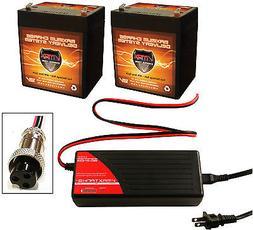 BC2403 Charger +  VMAX V06-43 12V 6AH Battery for Razor E100