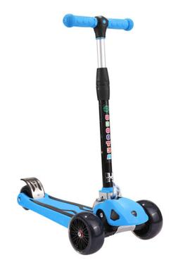 Blue Instant Folding Scooter Freestyle Scooter Balance Mini