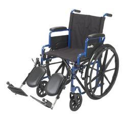 Drive Medical Blue Streak Wheelchair with Flip Back Desk Arm
