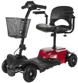 Drive Medical Red Bobcat X4 4 Wheel Compact Transportable Sc