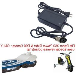 Charger for Razor 360 Power Rider trike E90 Scooter & Jr Ele