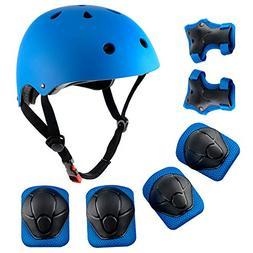Child Multi-Sport Helmet With Knee Pads Elbow Wrist Protecti