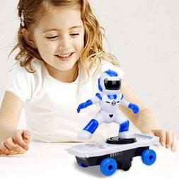 Children's stunts rotating tumbling light music Robotic elec
