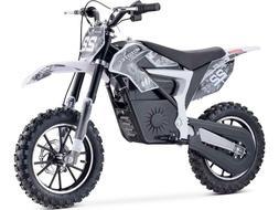 MotoTec 36v 500w Demon Electric Dirt Bike Lithium White 3 Sp