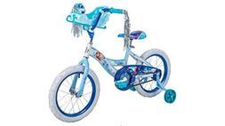 Girls 16 inch Huffy Disney Frozen Bike with Sleigh Carrier