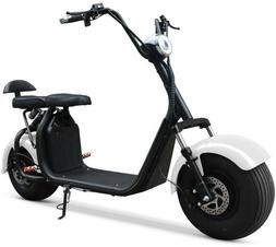 DOUBLE SEAT 2000W 60V Wide Fat Tire Kick Electric Scooter Mo