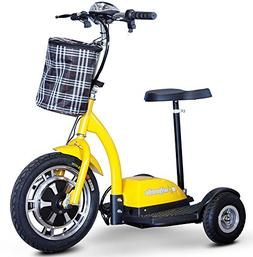 E-Wheels, EW-18 Stand n Ride Scooter 3-Wheel - Yellow