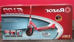 Razor E100 Electric Scooter in Red-NEW