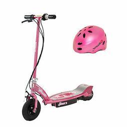 Razor E100 Electric Kids Girls Scooter  & Youth Sport Helmet
