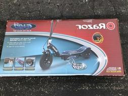 e100 glow electric scooter black and blue