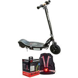 Razor E100 Glow Electric Scooter, Black w/ Veglo X4 Wearable