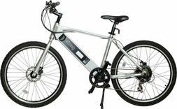 GenZe - e101 Sport Electric Bike - Silver 18-101-SIL-350-SKD