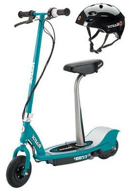 Razor E200S Seated Electric Scooter  & Youth Sport Helmet